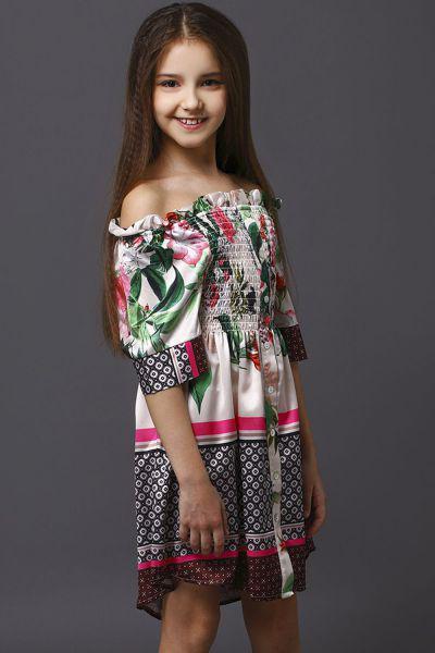 Купить Платье, To Be Too, Разноцветный, Полиэстер-95%, Эластан-5%, Женский