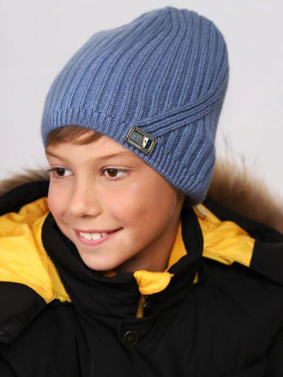 шапка noble people для мальчика, голубая