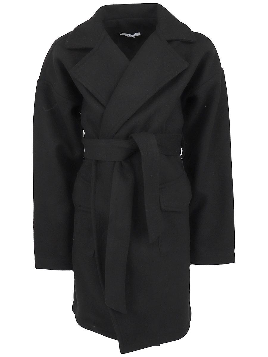 пальто y-clu' для девочки, черное