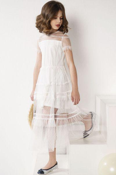 Купить Платье, Noble People, Белый, Нейлон-100%, Женский
