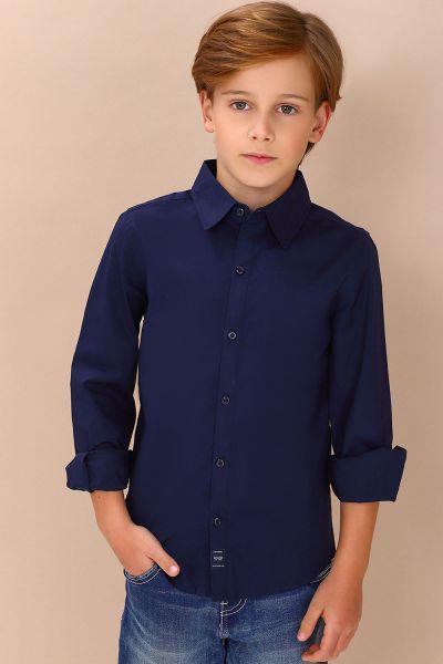 Купить Рубашка, Gaudi, Синий, Хлопок-98%, Эластан-2%, Мужской