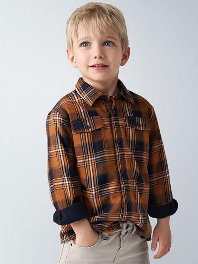 рубашка mayoral для мальчика, оранжевая