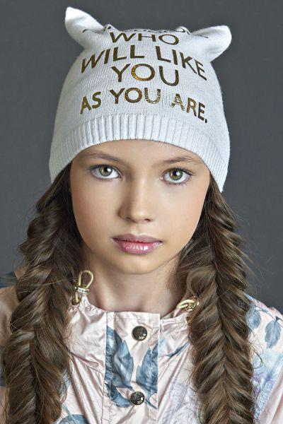 Купить Шапка, Noble People, Белый, Полиамид-57%, Вискоза-43%, Женский