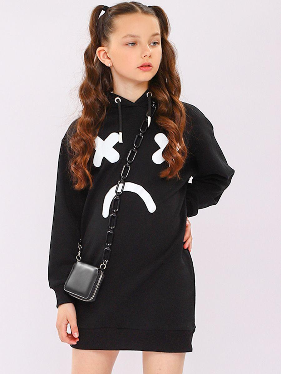 платье y-clu' для девочки, черное