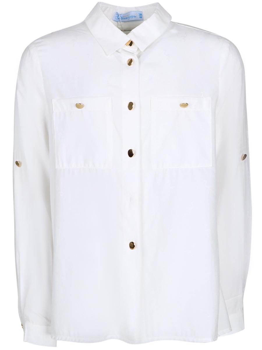 блузка юные фантазёры для девочки, белая