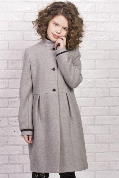 Купить Пальто, Mamma Mila, Серый, Полиэстер-60%, Шерсть-40%, Женский