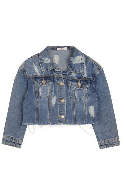 Купить Куртка, Y-clu', Голубой, Хлопок-97%, Эластан-3%, Женский