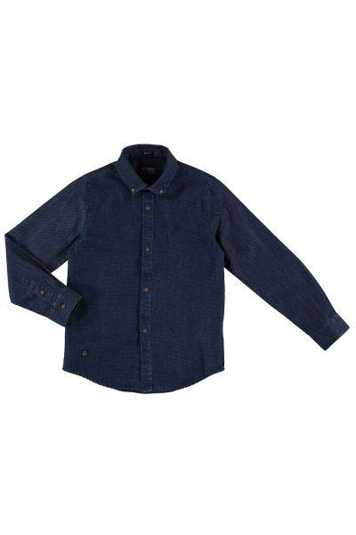 Купить Рубашка, Mayoral, Синий, Хлопок-100%, Мужской