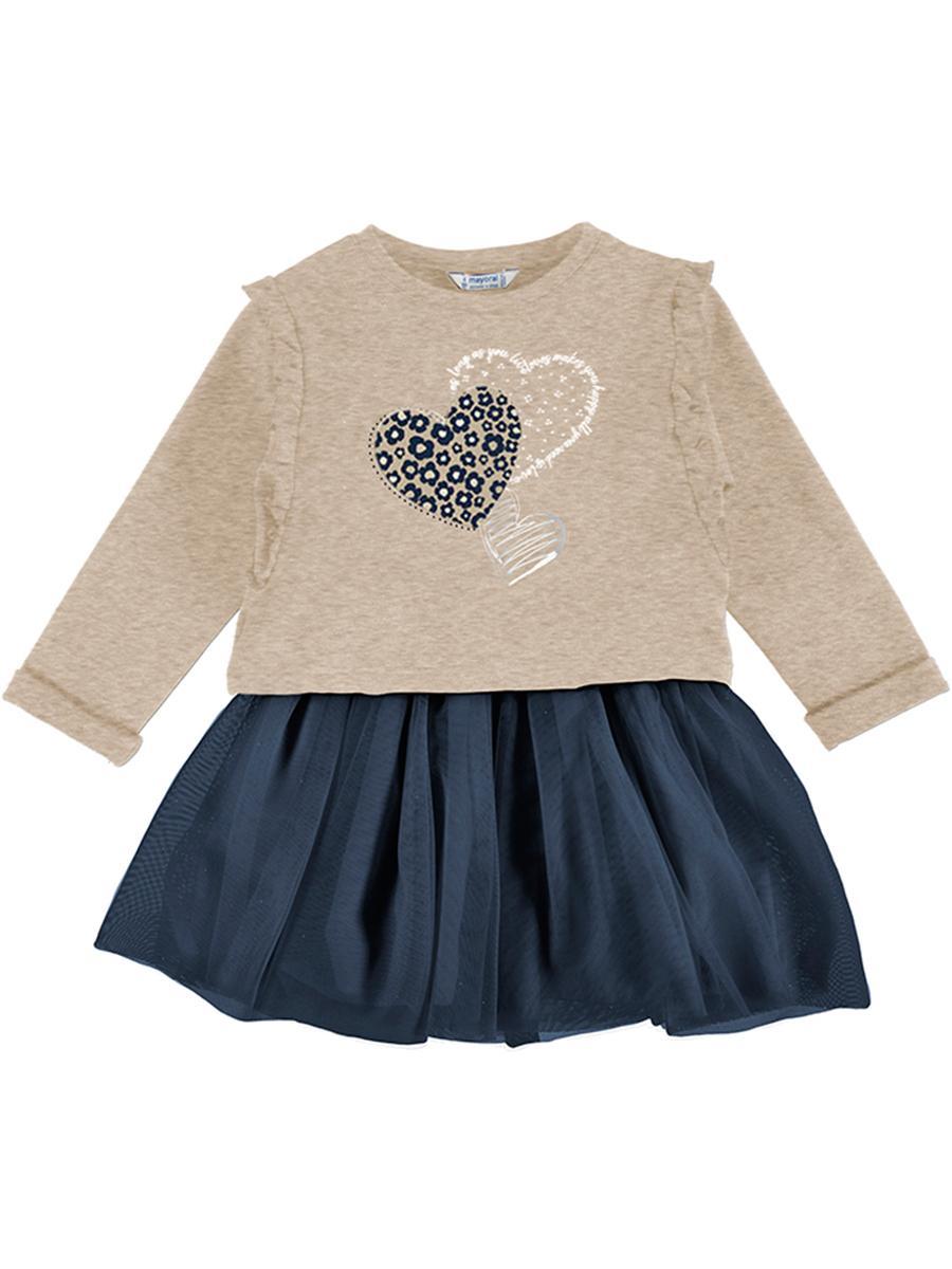 пуловер mayoral для девочки, разноцветный