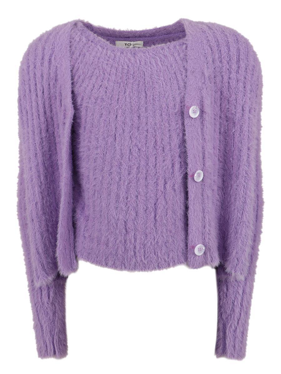 джемпер y-clu' для девочки, фиолетовый