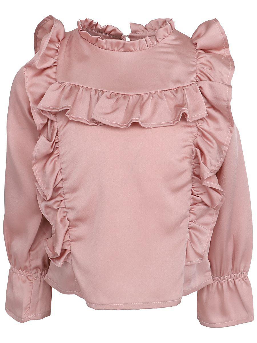 блузка y-clu' для девочки, розовая
