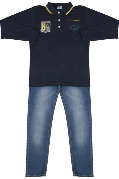 Купить Лонгслив+джинсы, Band, Синий, Хлопок-95%, Эластан-5%, Мужской