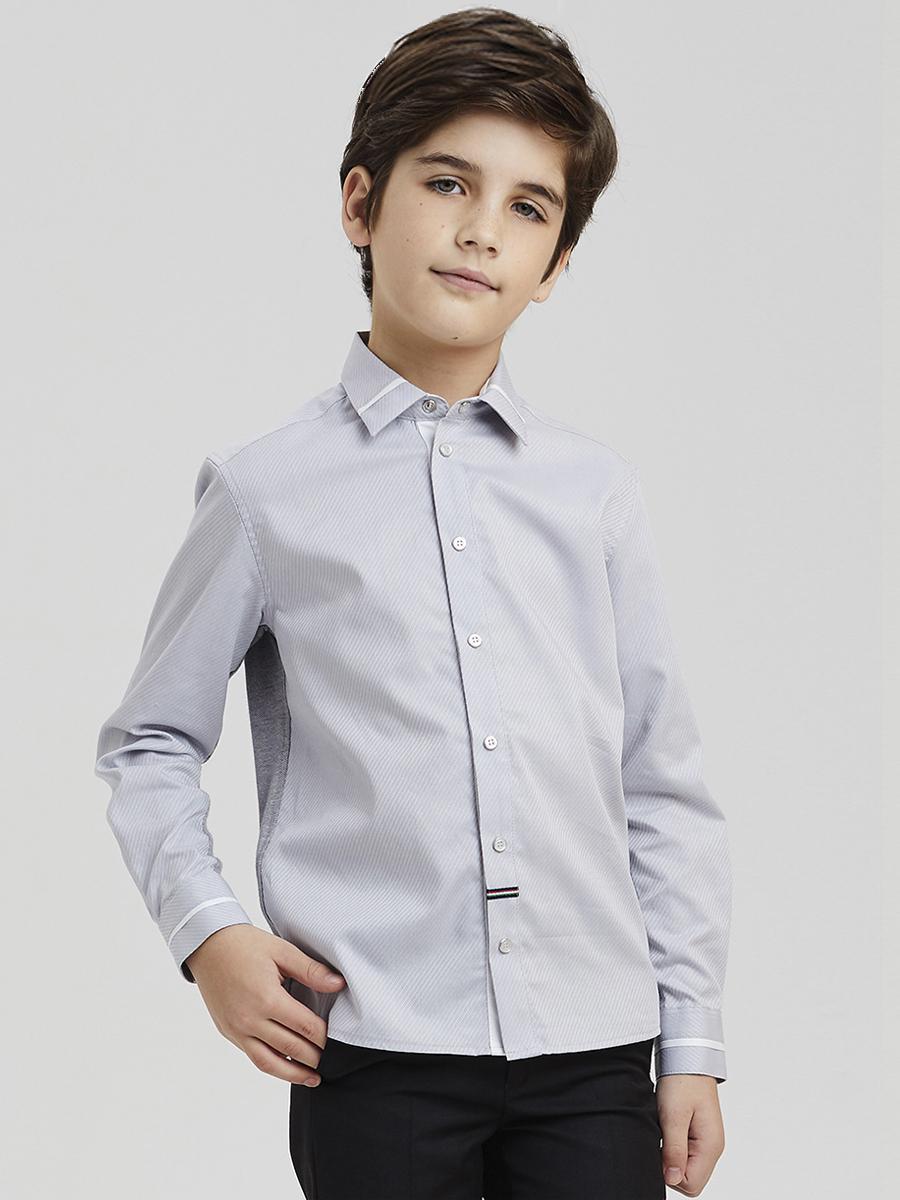 рубашка silver spoon для мальчика, голубая