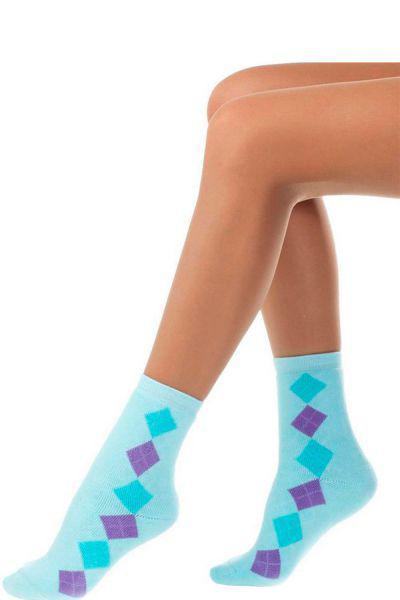 Носки махровые для девочки SAM-1248 розовый Charmante голубой, Италия