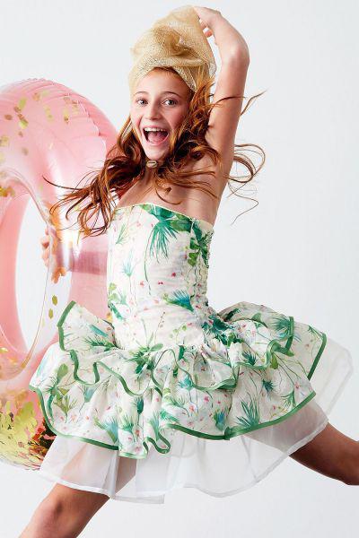 Купить Платье, Y-clu', Разноцветный, Хлопок-94%, Эластан-6%, Женский