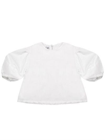 Купить Блуза, Gaialuna, Белый, Полиэстер-97%, Эластан-3%, Женский