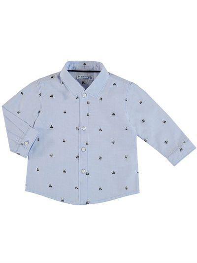 Купить Рубашка, Mayoral, Голубой, Хлопок-100%, Мужской