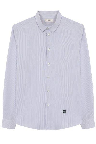 Купить Рубашка, Paolo Pecora, Голубой, Хлопок-100%, Мужской