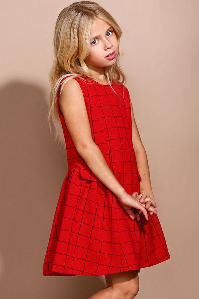Платье, To Be Too, Красный, Полиэстер-65%, Вискоза-35%, Женский  - купить со скидкой