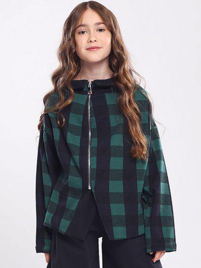 Купить Куртка, Gaialuna, Зеленый, Полиэстер-59%, Хлопок-40%, Эластан-1%, Женский
