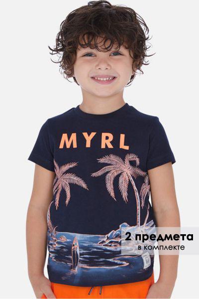 Футболка+майка, Mayoral, Разноцветный, Хлопок-100%, Мужской  - купить со скидкой