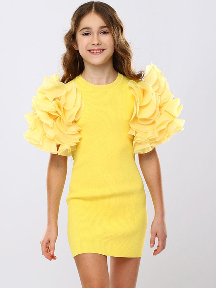 платье to be too для девочки, желтое
