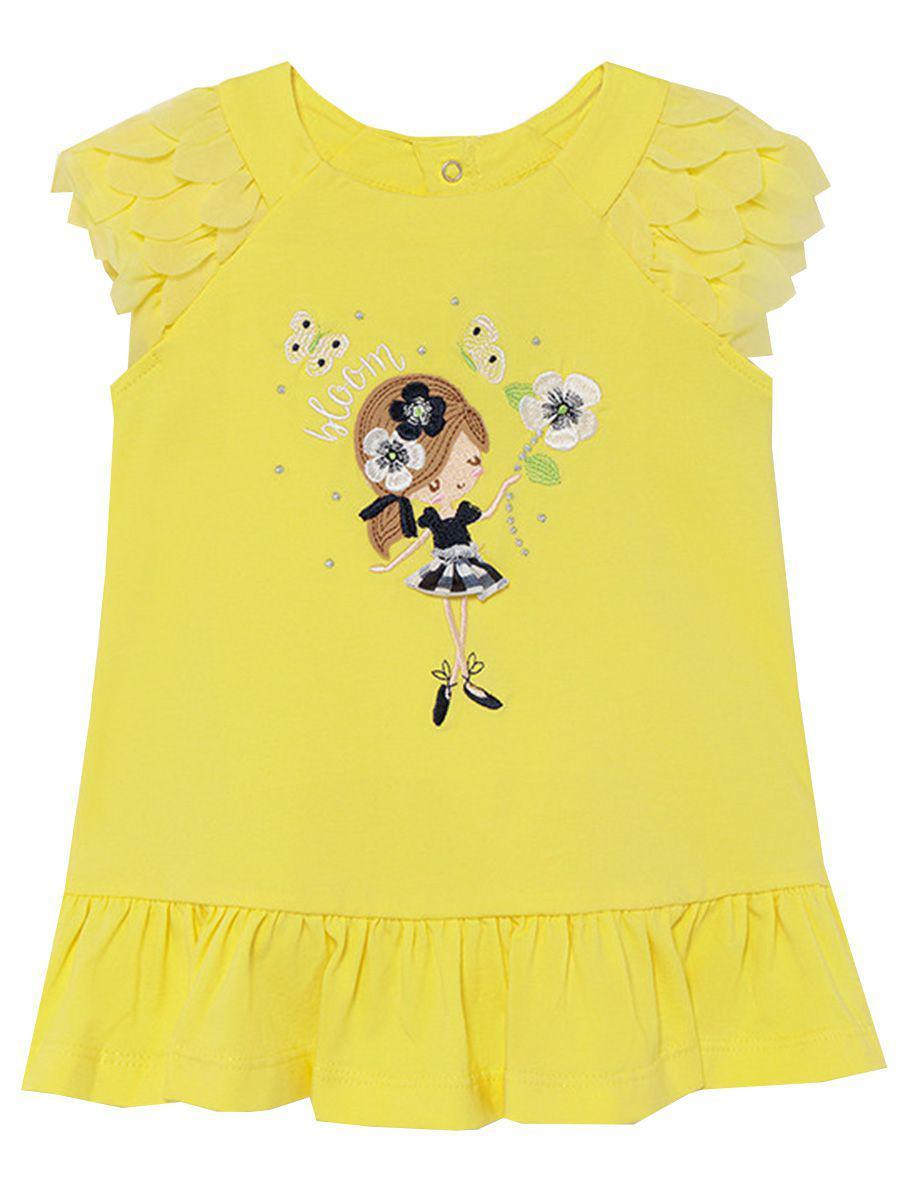 платье mayoral для девочки, желтое