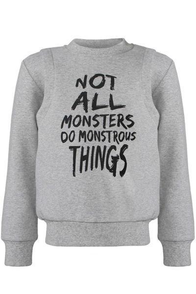 пуловер stefania для мальчика, серый