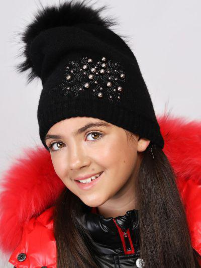 шапка noble people для девочки, черная