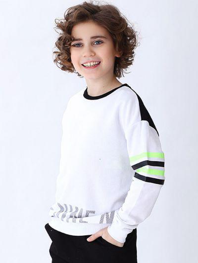 толстовка street gang для мальчика, белая