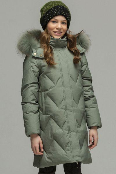 Купить Пальто, Laddobbo, Зеленый, Нейлон-100%, Женский