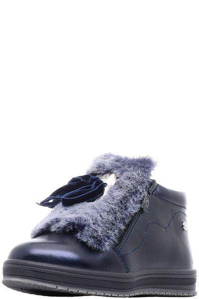 Купить Ботинки, Kapika, Синий, Кожа натуральная/Мех-100%, Женский