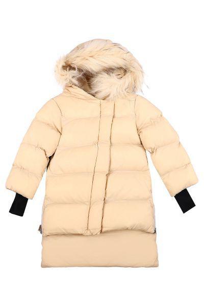 Купить Куртка, Gaialuna, Бежевый, Полиэстер-100%, Женский