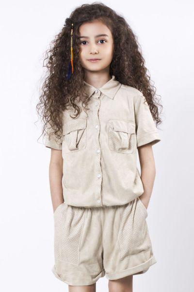 Комбинезон для девочки TF15207 бежевый To Be Too, Китай (КНР)