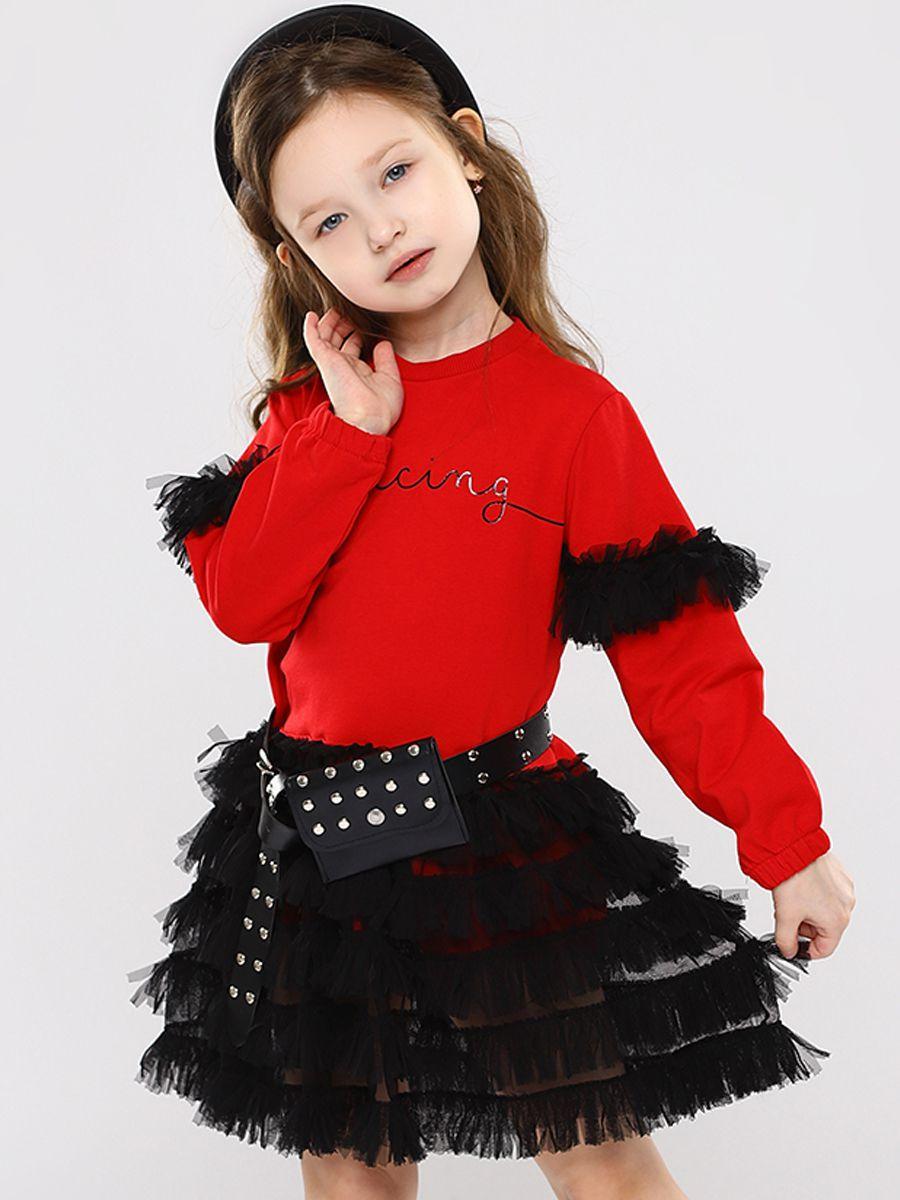 платье y-clu' для девочки, красное