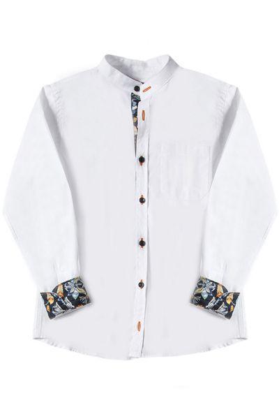 Купить Рубашка, Y-clu', Белый, Хлопок-97%, Эластан-3%, Мужской