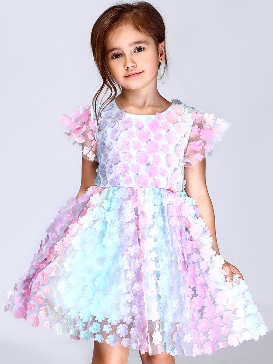 платье noble people для девочки, разноцветное