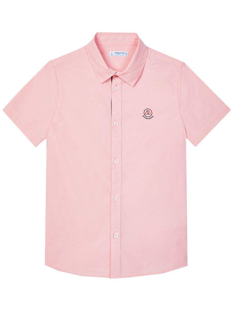 рубашка mayoral для мальчика, розовая
