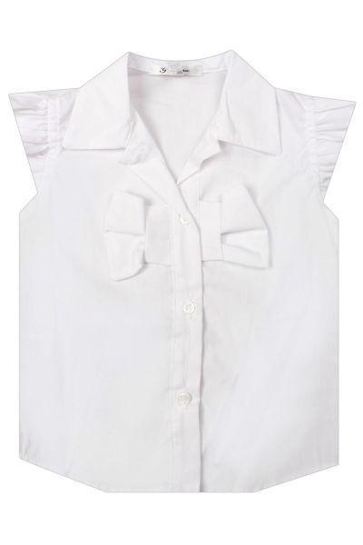 Купить Блуза, Gaialuna, Белый, Хлопок-95%, Эластан-5%, Женский