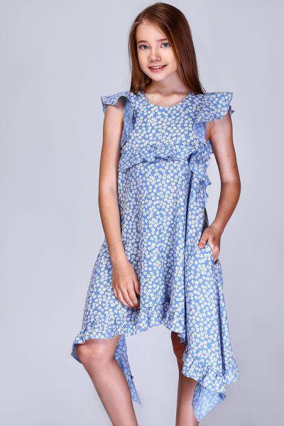 Купить Платье, Noble People, Голубой, Хлопок-100%, Женский