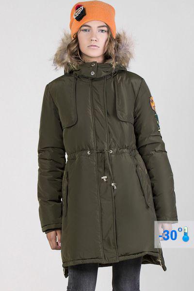 Купить Пальто, Noble People, Зеленый, Полиэстер-100%, Женский
