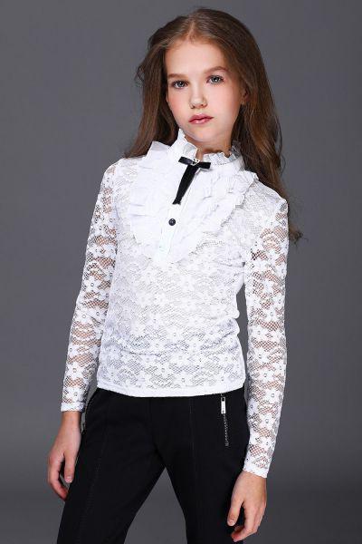 Купить Блуза, Noble People, Белый, Полиэстер-100%, Женский
