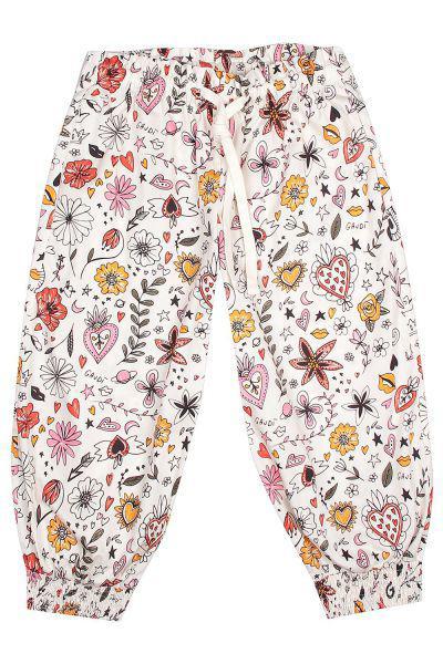 брюки gaudi для девочки, разноцветные