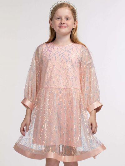 платье смена для девочки, оранжевое