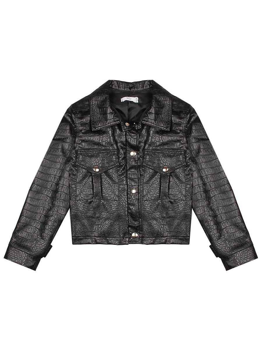 куртка косухи y-clu' для девочки, черная