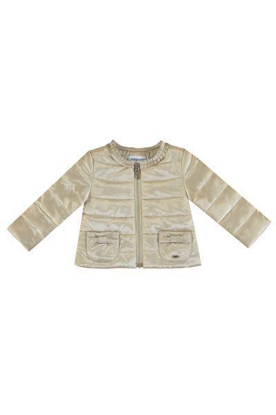 Купить Куртка, Mayoral, Бежевый, Полиэстер-57%, Полиамид-43%, Женский