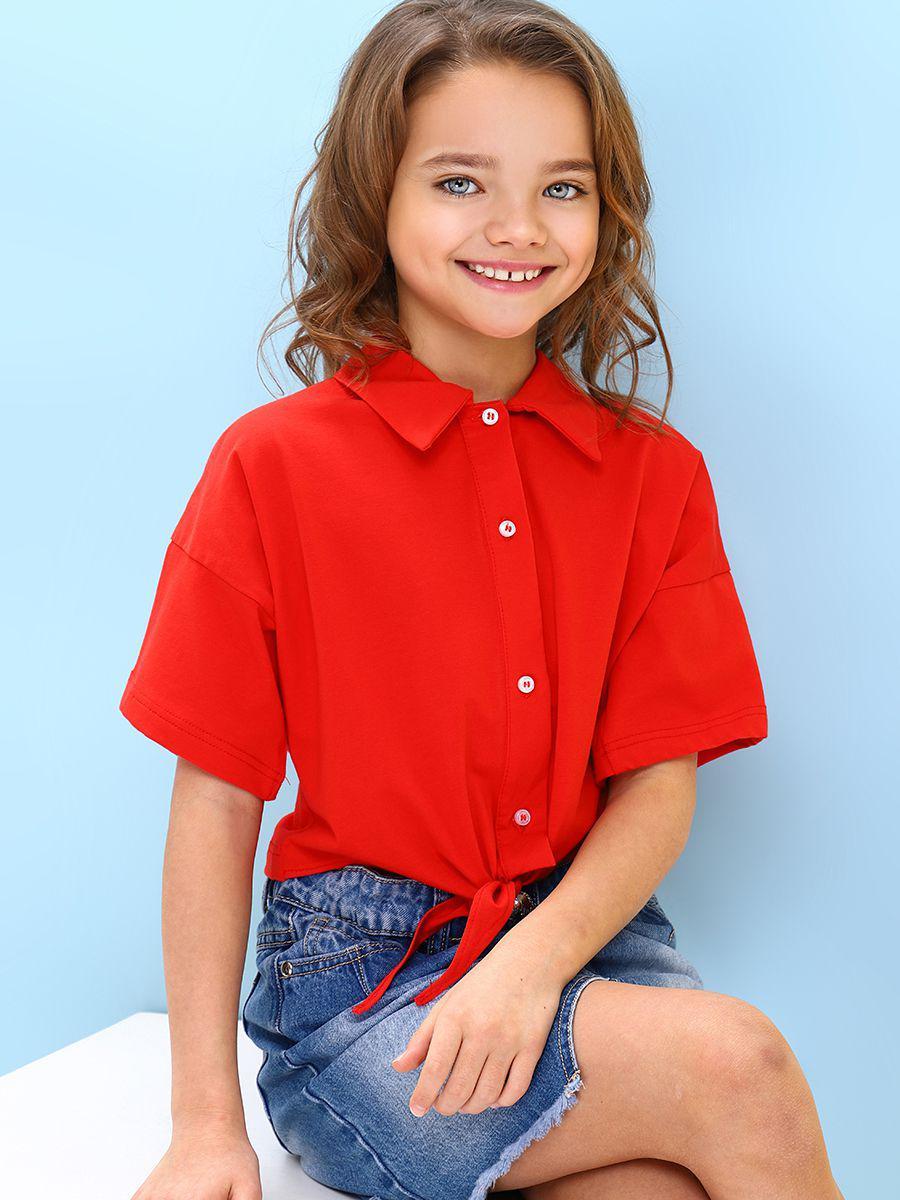 блузка gaialuna для девочки, красная