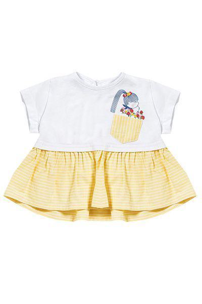 футболка gaialuna для девочки, желтая