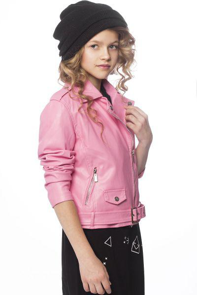 Куртка, Gaialuna, Розовый, Полиуретан-100%, Женский  - купить со скидкой