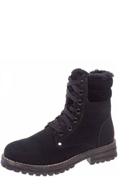 Купить Ботинки, Keddo, Черный, Искусственный нубук+искусственная замша-100%, Женский
